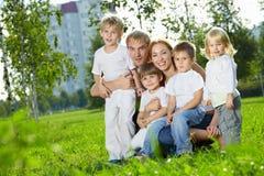 famiglia grande Fotografie Stock Libere da Diritti