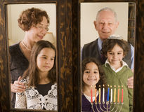 Famiglia Hannuka Fotografia Stock Libera da Diritti