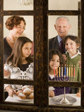 Famiglia Hannuka Fotografie Stock Libere da Diritti