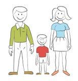 Famiglia - illustrazione del bambino Fotografia Stock
