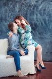 Famiglia incinta felice Immagini Stock Libere da Diritti