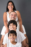 Famiglia indiana perfetta Immagini Stock Libere da Diritti