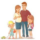 Famiglia insieme Fotografia Stock