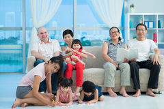 Famiglia mista felice Immagini Stock