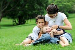 Famiglia monoparentale Fotografia Stock