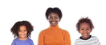 Famiglia monoparentale felice fotografie stock libere da diritti