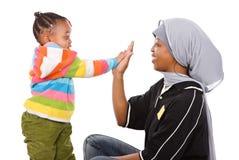 Famiglia musulmana fotografie stock libere da diritti