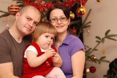 Famiglia a natale Fotografia Stock Libera da Diritti