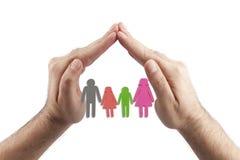 Famiglia nel concetto della palma - immagine di riserva immagini stock libere da diritti