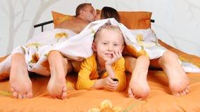 Famiglia nel Male di mattina Immagine Stock