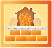 Famiglia nella casa calda Fotografia Stock Libera da Diritti