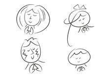 Famiglia nella preghiera royalty illustrazione gratis