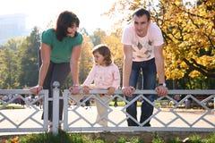 Famiglia nella sosta Immagine Stock