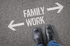 Famiglia o lavoro Fotografie Stock Libere da Diritti