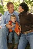 Famiglia - papà, mamma e figlio immagini stock libere da diritti