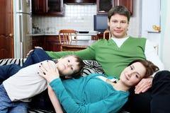 Famiglia piena Fotografie Stock Libere da Diritti