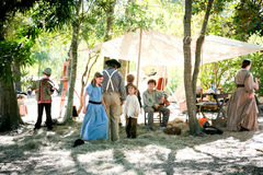 Famiglia pionieristica Fotografie Stock Libere da Diritti