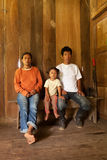 Famiglia quechua povera Fotografia Stock