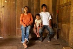 Famiglia quechua povera Fotografie Stock Libere da Diritti