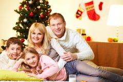 Famiglia rilassata Fotografia Stock