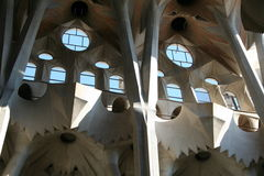 famiglia sagrada Espagne de cathédrale de Barcelone Images stock