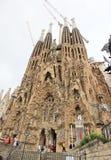 Famiglia Sagrada i Barcelona Arkivfoton