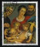 Famiglia santa con un canestro da Rubens Fotografie Stock Libere da Diritti
