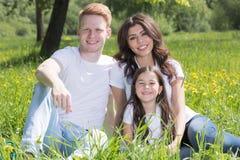 Famiglia in sosta immagini stock libere da diritti