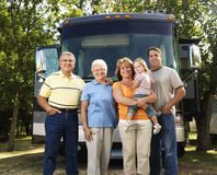Famiglia sulla vacanza. fotografie stock