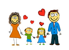Famiglia sveglia Immagini Stock Libere da Diritti