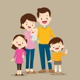 Famiglia sveglia con il bambino Fotografie Stock Libere da Diritti