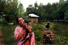 Famiglia tribale felice Fotografia Stock Libera da Diritti