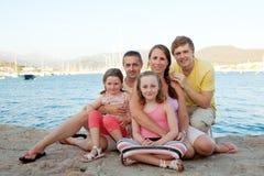 Famiglia in vacanza fotografia stock