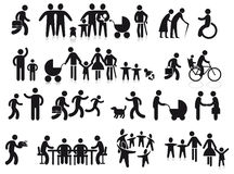 Famiglie e generazioni Immagini Stock Libere da Diritti