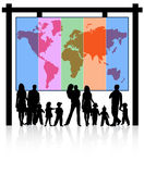 Famiglie e programma Fotografia Stock