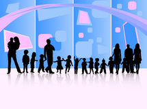 Famiglie ed estratto Fotografie Stock