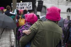 Famiglie su marzo delle donne a Zurigo Fotografie Stock