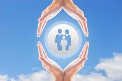 Famil_-Versicherung Stockfotografie