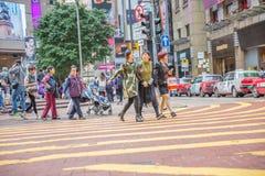 Familes d'Asiatique de Times Square Images stock