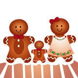 Famili da cookie ilustração do vetor