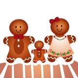 Famili del biscotto Immagine Stock