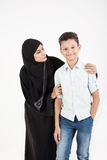 Familia árabe imagen de archivo