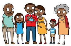 Familia étnica grande ilustración del vector