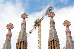 familia крана 4 одних башни s sagrada Стоковая Фотография