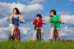 Familia activa Fotografía de archivo