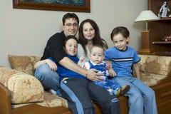 Familia afortunada fotografía de archivo