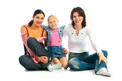 Familia afortunada Foto de archivo libre de regalías