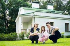 Familia afortunada Foto de archivo