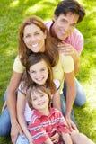 Familia al aire libre Imagen de archivo libre de regalías