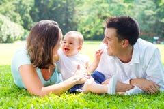 Familia alegre Foto de archivo